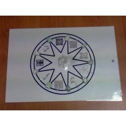 Mandala minéral de la Lune (Aigue-Marine)