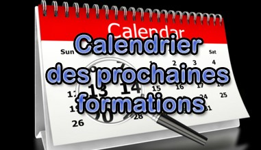 Calendrier des prochaines formations
